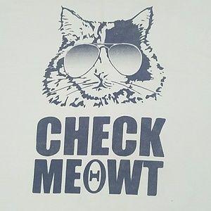 KAT KREW 'check meowt' graphic cat honda logo tee